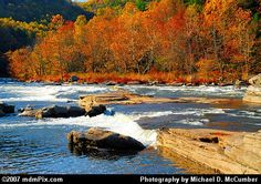 Ohiopyle in the Autumn.  Pennsylvania State Park in the Fayette County.  Very popular area