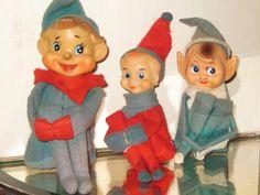Vintage Christmas Pixie Elfs