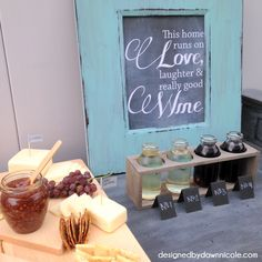 Everyone loves a blind taste test. Jazz up your display with this mini chalkboard menu.