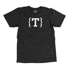 """""""Typeplate """"T"""""""" designed by Typeplate Team. Web typography lovers, this tee is for you. Show your open-source pride!"""