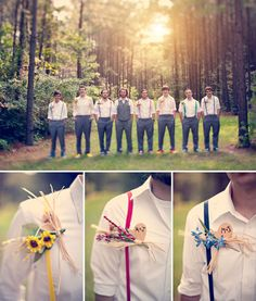 Rainbow Suspenders- They even have the right initials! (Though we could make way cuter boutonnières!)