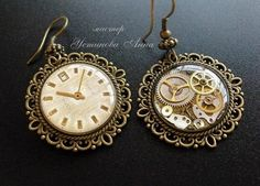 Hand made steampunk earrings