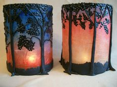 translucent candle holders