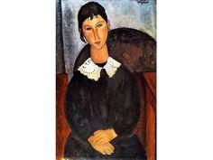 Elvire con collettino, 1917, olio su tela, 92x65cm  [2 marzo 2013] Mostra 'Modigliani, Soutine e gli artisti maledetti' a Palazzo Reale di Milano