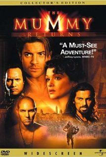 The Mummy Returns (This is the second of the series but the third of the series doesn't have Rachel Weisz and the powers that be apparently  thought that we the public would prefer to see her character but with a completely different actress...it didn't work.)