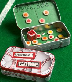 Travel Sized Baseball Game Use a recycled candy or mint tin paper wood circles and magnets to create this fun baseball travel game for the kids. The post Travel Sized Baseball Game was featured on Fun Family Crafts. Family Crafts, Crafts For Kids, Children Crafts, Art Kits For Kids, Travel Baseball, Mint Tins, To Go, Sport Craft, Easy Arts And Crafts