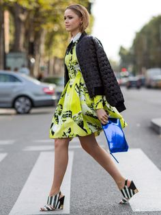 La robe vert fluo Kenzo