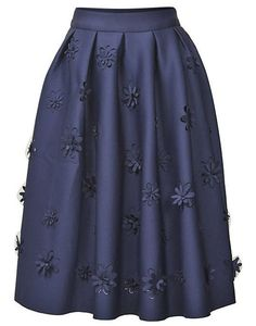 Flore Flower Applique A-Line Skirt . Quality products at remarkable prices. FREE WORLDWIDE SHIPPING on orders over US$ 35