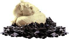a classic: chocolate ice cream