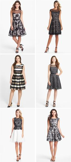 Bridesmaid idea: mix black and white prints!