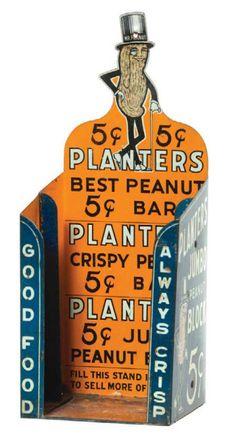 vintage 5¢ Planters Peanut Bar store display tin