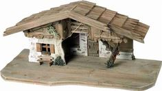 Weihnachtskrippe Krippenstall Holzkrippe Maße ca. Fairy Houses, Cribs, Shiva, Portal, Woodworking Ideas, Ideas, World, Nativity Scenes, Christmas Crafts