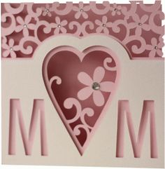 Silhouette Design Store - View Design #76221: 5x5 flourish mother's day layer card