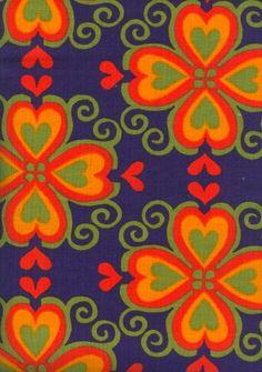 "Vintage Finnish Finlayson ""Finla"" Fabric designed by Aini Vaari in 1973."