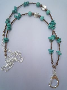 If you have to wear a lanyard at work why not wear a pretty one! From Lanyard Elegance.