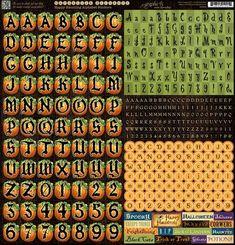 Happy Haunting Cardstock Alphabet Stickers! #graphic45