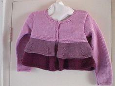 Aurora cardigan for girls. Free pattern