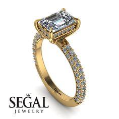 Hidden Halo Emerald Cut Diamond Engagement Ring - Ximena No. Emerald Cut Diamond Engagement Ring, Elegant Engagement Rings, Emerald Cut Diamonds, Designer Engagement Rings, Gold Diamond Rings, Diamond Wedding Rings, Diamond Cuts, Engagement Gifts, Pink Diamonds