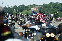 '2 Million Bikers' Cruising Through D.C. on 9/11 Despite Permit Denial'. These PATRIOTS represent many others who cannot be there. God speed!
