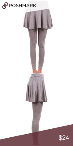 6f5ebad5b88 Grey Pleated Skirt Leggings One size ! Content   65% Cotton