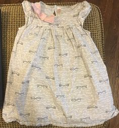 Cherokee Grey Glasses Dress with Pink Now Size 4T | eBay