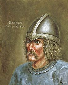 Garðarr Svavarsson is considered by many to be the first Scandinavian to live in Iceland, although he is said to have stayed only for one winter. He married a woman from the Hebrides. During the voyage to these isles (in the 860) he sailed into a storm at Pentland Firth. This storm pushed his ship far to the north until he reached the eastern coast of Iceland. He circumnavigated the island, becoming the first known person to do so and thus establishing that the landmass was an island.