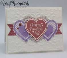 Stampin' Up! Heartfelt Valentine's Day Card for Fab Friday – Stamp With Amy K Valentine Day Cards, Happy Valentines Day, Holiday Cards, Valentine Ideas, Valentine Stuff, Xmas Cards, Diy Cards, Valentine's Day, Halloween Cards