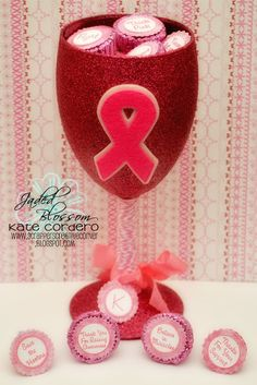Created by Kate using Awareness Ribbon Die, Awareness Candies and Candy Charms and Banner Dies. http://jadedblossom.bigcartel.com/