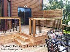Custom Cedar Decks by Deckrative Designs