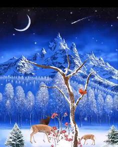 Merry Christmas Wallpaper, Merry Christmas Gif, Christmas Scenery, Magical Christmas, Christmas Love, Christmas Pictures, Christmas Greetings, Beautiful Christmas, Happy Birthday Babe