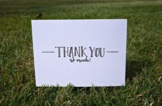 Thank You Cards by CalligraphybyKateUS on Etsy