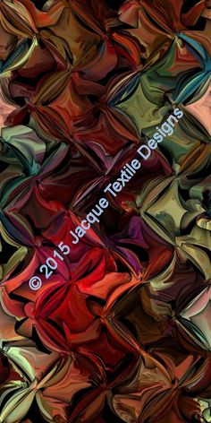 Textil artista hermosa tela satén sedoso fibra rico de arte abstracto geométrico Jewelt tonos