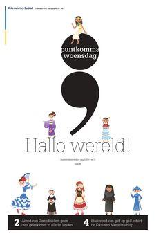 Kinderboekenweek! Dus een mooie vp puntkomma op 3 oktober 2012