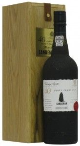 Sandeman Tawny Port Wine 40 Years Old amazing gift my son brought me from Portugal.