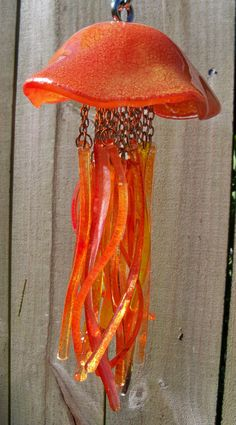 Medusas con fusible vidrio Windchime ardient por CBreezeDesigns