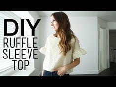 DIY ruffle sleeve top video