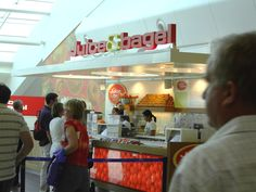 The Juice & Bagel Store, Luton Airport.