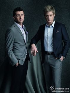 Stylish snooker players: Mark Selby and Neil Robertson.