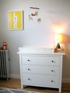 Hemnes dresser as baby change table