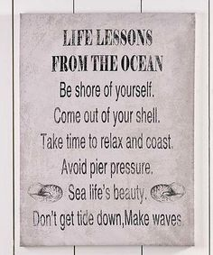 Look at this #zulilyfind! Life Lessons Sentiment Canvas Wall Décor #zulilyfinds