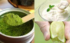 Mặt nạ bột trà xanh + chanh + sữa chua Sky Shop, Ethnic Recipes, Food, Teen, Teenagers, Meals, Yemek, Eten