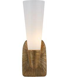 Visual Comfort KW2043G-WG Kelly Wearstler Utopia 5 inch Gild Bath Sconce Wall Light, Kelly Wearstler, Small, Single, White Glass photo