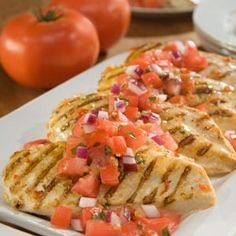 Marinated Chicken Bruschetta - Healthy Low calories Recipes - toprecipesmagazin...