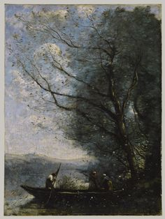 The Ferryman, ca. 1865 Camille Corot (French, 1796–1875) Oil on canvas; 26 1/8 x 19 3/8 in. (66.4 x 49.2 cm) Signed (lower right): COROT ...