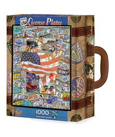 This USA License Plates 1000-Piece Puzzle is perfect! #zulilyfinds