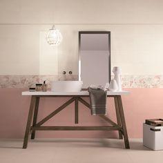 VISION #abkemozioni #blanc #rose #carrelage #couleur #bathroom #homesweethome