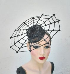 Halloween Costume Spider Hat Web Hat Witch by BatcakesCouture, $119.00