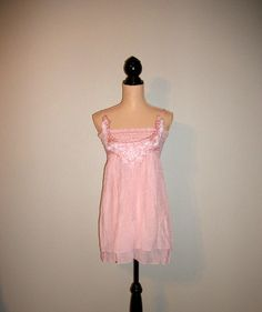 Shabby Boho Dress Size 8 10 Medium Pink Dress by MintJulepShoppe