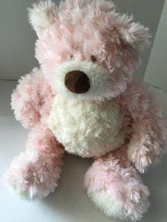 Baby-Ganz-Bellifuls-Soft-Teddy-Bear-Pink-White-Stuffed-Toy-Rattle-18