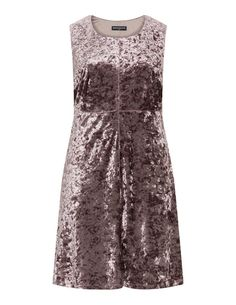 Sleeveless velvet dress in Taupe-Grey designed by Manon Baptiste to find in Category Dresses at navabi.de